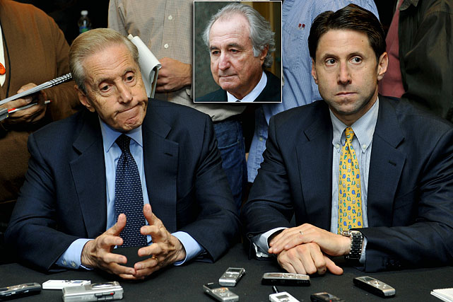 Mets owners acknowledged that they will explore selling a minority stake in the team because of the lawsuits filed against them in relation to the Bernie Madoff Ponzi scheme. The lawsuits contend that Fred Wilpon (and other Mets owners and their companies) turned a blind eye to Madoff's scheme, even though there were signs of foul play. The owners have denied these claims and have said they will not sell a controlling interest in the club.