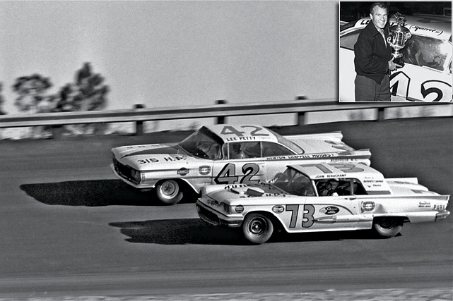 The Great American Race was started under Bill France, Sr.'s watch, a $3 million investment in a 2.5-mile oval to rival Indianapolis. The first version lived up to expectations, Lee Petty besting Johnny Beauchamp in a photo finish on Feb. 22, 1959. The race was so close, Beauchamp was initially declared the winner before France reversed the ruling three days later, using newsreel and photographic evidence to prove Petty was out in front.