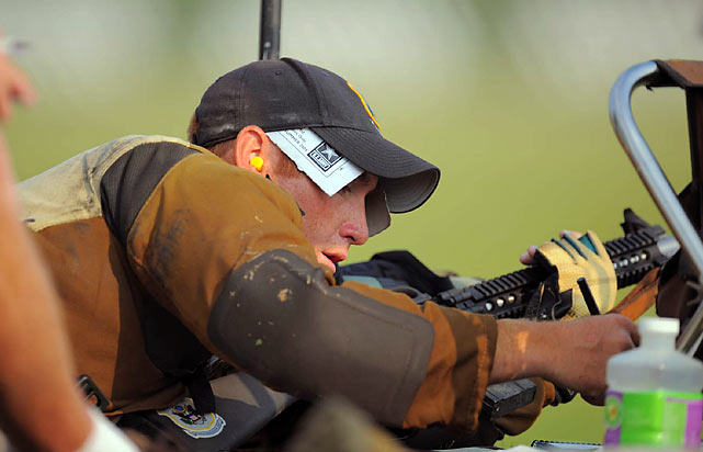 The prizes for the NRA National Outdoor Rifle and Pistol Championships are meager.  Some winners receive a box of bullets or a $15 gift certificate.  For winning the Tompkins trophy, Gallagher took home a $500 Visa gift card, $500 from Berger bullets, $500 from Sierra Bullet and a Remington Model 700 Sendero 700 SF2300 Ultra Mag rifle.