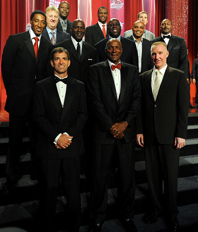 Regarded as the greatest team ever assembled, the 1992 U.S. Olympic team was inducted into the Naismith Memorial Hall of Fame in August. With legends such as Magic Johnson, Larry Bird, Michael Jordan and Charles Barkley, the Dream Team pummeled its opponents by an average of 44 points a game en route to winning the gold medal in Barcelona. Two members of the team, Karl Malone and Scottie Pippen, also were inducted into the Hall as individuals this year.