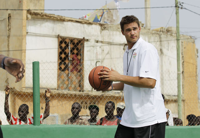 "The New York Knick, who also responds to ""The Rooster,"" participated in a Basketball Without Borders community event in Dakar, Senegal."
