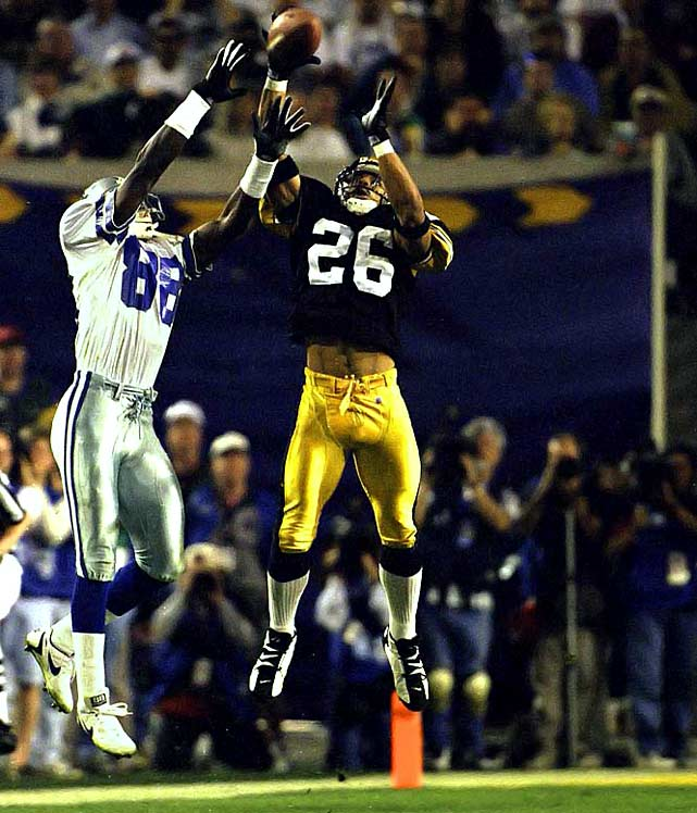 Woodson was the premier cornerback of his era and was named to the NFL's 75th Anniversary team, the only active player on the list when it was selected in 1994. He played 17 seasons (1987-2003) for four teams (Steelers, Niners, Raiders and Ravens).  Runner-up: Herb Adderley  Worthy of consideration: Raymond Clayborn, Lydell Mitchell, Clinton Portis