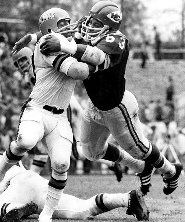 Lanier, an All-Pro every year from 1968 through 1977, was the first African-American star at middle linebacker. He played his entire 11-year career for the Chiefs.  Runner-up: Lee Roy Selmon  Worthy of consideration: Dermontti Dawson, Mike Munchak, Fuzzy Thurston, Gene Upshaw