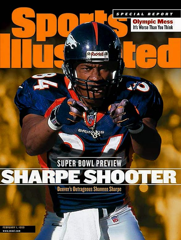Motor-mouthed member of the Broncos (12 seasons) and Ravens (two), Sharpe earned first-team NFL All-Decade honors for the 1990s. The eight-time Pro Bowl pick finished with 815 receptions 10,060 yards and 62 TDs.  Runner-up: Sterling Sharpe  Worthy of consideration: Gary Clark, Herman Moore, Randy Moss, Jay Novacek, Jack Snow