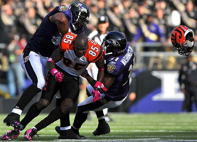 Ray Lewis Football Hits: NFL Players Losing Helmets