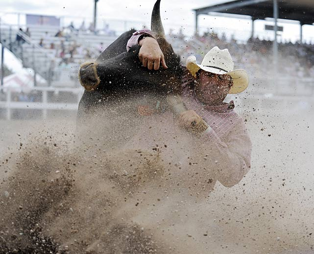 Just tough cowboys and steer in this competition...no bull.
