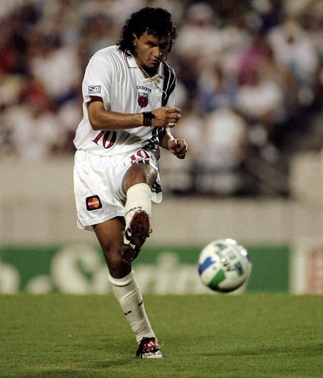 Bolivian playmaker Etcheverry joined MLS at age 26 and would become one of the greatest stars in MLS history, winning 3 MLS Cups and being named MLS MVP in 1998.