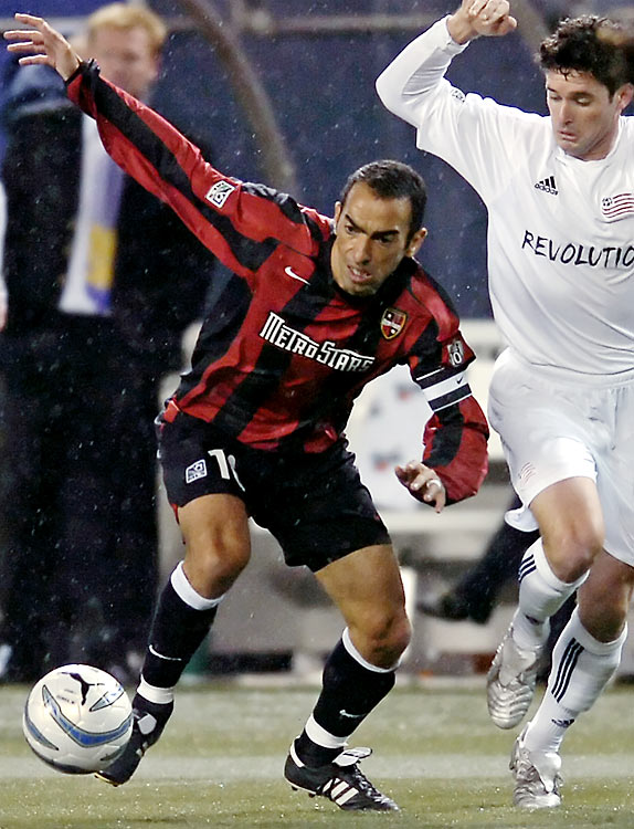 Aged 37, the former France an Inter Milan world Cup winner Djorkaeff landed with the Metrostars in '05 and becoming the first French player to play in MLS, ending the season as the team's MVP.
