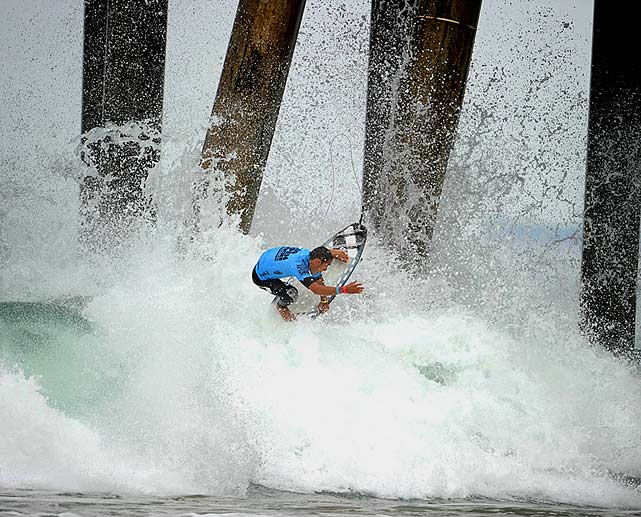 Another Brazilian, Jadson Andre, planted a huge air right next to the pier pilings and came out in one piece.