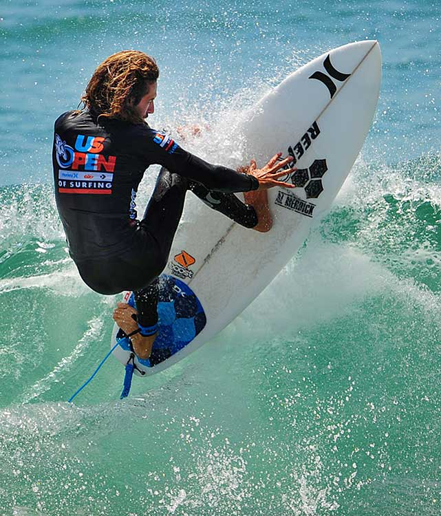 Rob Machado was the U.S. Open champion in 1995, 2001 and 2006.