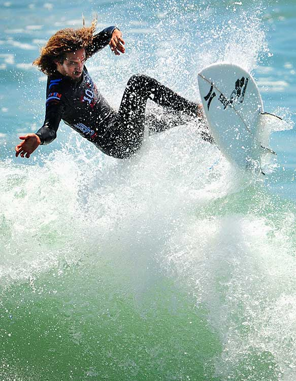 Rob Machado put on a big show in Saturday's elite expression session.