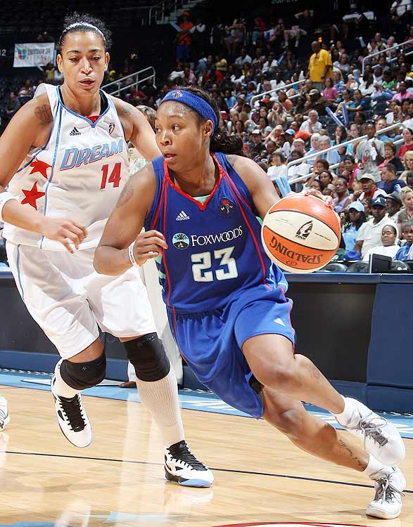 After playing second fiddle to Diana Taurasi in Phoenix, Cappie Pondexter wanted to be the focal point of an offense.  She got her wish in New York and she has flourished.  Pondexter has been an unstoppable force all season, and during the Liberty's nine-game winning streak  through Aug. 18 , she  was crucial, averaging 20.8 points and 4.6 assists.