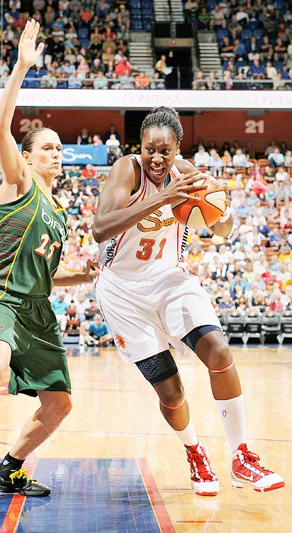 Despite her best efforts, Tina Charles could not bring a championship to the Connecticut Sun ... this year at least.   The first overall pick in the 2010 WNBA draft, Charles has exceeded expectations.  She's already set the record for the most double-doubles in a WNBA season, and it's starting to look like her championship drought may only last one year.