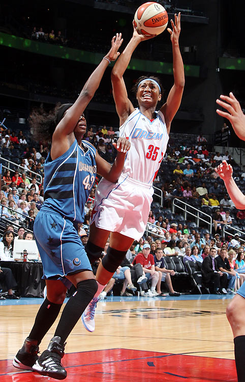Angel McCoughtry, the 2009 Rookie of the Year, jumped straight to the MVP race this year, averaging 21.1 points, 4.9 rebounds and 3.1 assists for Atlanta, a third-year team that has made the playoffs for the second straight year. The Dream faces conference winner Washington in Game 1 on Wednesday.