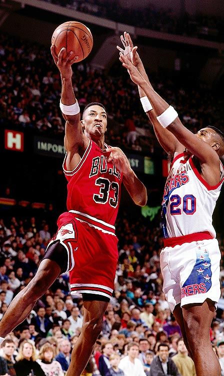 Four years after his retirement from the NBA, Scottie Pippen took a tour of Scandinavia. His European tour was brief -- two games with Torpan Pojat in Finland, and one with Sundsvall in Sweden -- but Pippen showed he still had what it takes. In his third game overseas, Pippen tallied 21 points, 12 rebounds, six assists and two steals for the Sundsvall Dragons. Not bad for a 42-year-old.