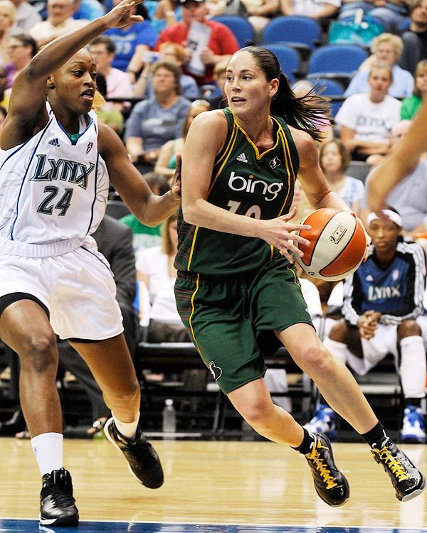 Paired with WNBA MVP Lauren Jackson, Sue Bird led the Seattle Storm to the best regular-season record in the WNBA.  This is the sixth time Bird has been named to an All-WNBA team.