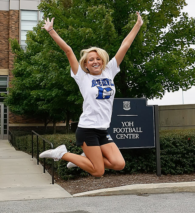 Meet Duke junior Katie. This Southern girl nearly became a Tar Heel before she decided the Blue Devils were more her style. A big sports fan, Katie hopes to one day go to an NCAA men's basketball championship game.   Want to find out more? Click the '20 Questions' link below.