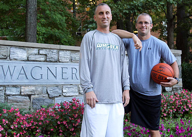 Shortly after receiving the head coaching gig at Wagner College last April, Danny Hurley (right) promptly tapped his famous brother Bobby to help him build the program in Staten Island, N.Y.