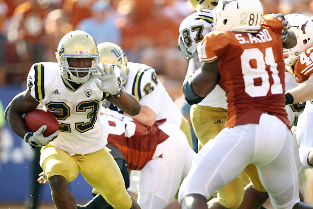 Texas has struggled offensively all season, but against UCLA, the Longhorns' defense failed for the first time. Jonathan Franklin (pictured) and the Bruins compiled 264 rushing yards against a 'Horns D that entered the game No. 1 nationally against the run, and UCLA pulled off a shocking upset over the nation's No. 7 team.