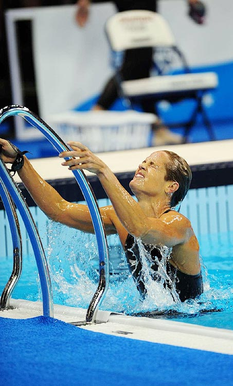 The ageless Dara Torres said Galea diagnosed a tear in her quad tendon and drained fluid from her knee.  Apart from that, she claims Galea provided her with no other treatment.