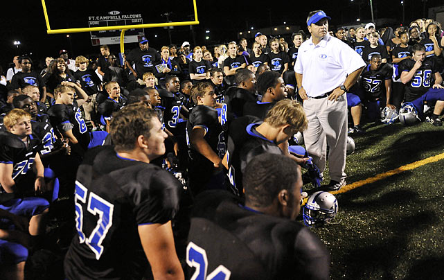 Coach Shawn Berner arrived at Fort Campbell in 2001, and took over as head coach of the team in 2002.  He led the Falcons to district titles from 2003-05, but was not able to capture his first state title until 2007.