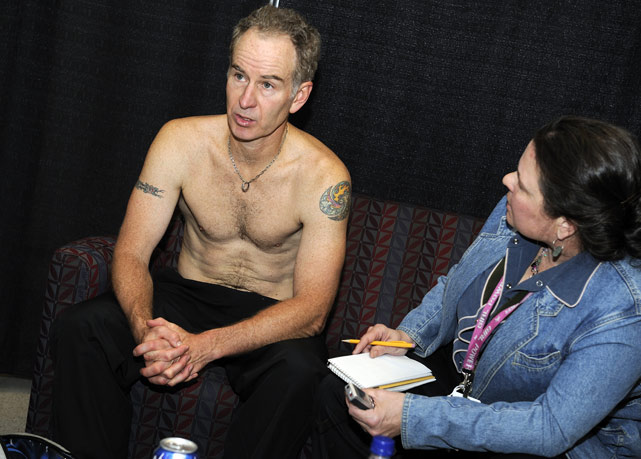 After winning his first title in the Outback Champions Series in 2008, tennis legend John McEnroe spoke with Boston Globe reporter Barbara Matson.
