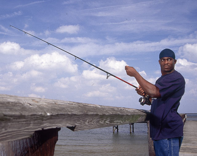 When not in the gym, Vick would unwind by going fishing.
