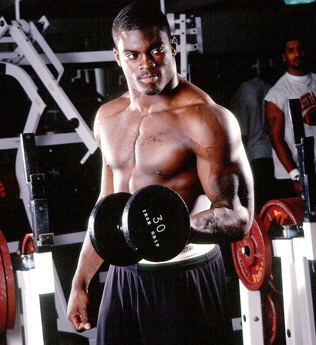 Vick worked hard in the offseason, increasing his 40 time to an incredible 4.25 seconds.