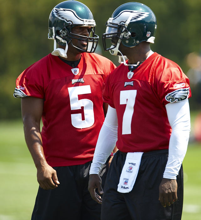 After a 19-month prison term, Vick signed a one-year contract to play for the Philadelphia Eagles. Though many protested his reinstatement, Philadelphia was an ideal landing spot for Vick because its starting quarterback, Donovan McNabb, had a history of injury problems.