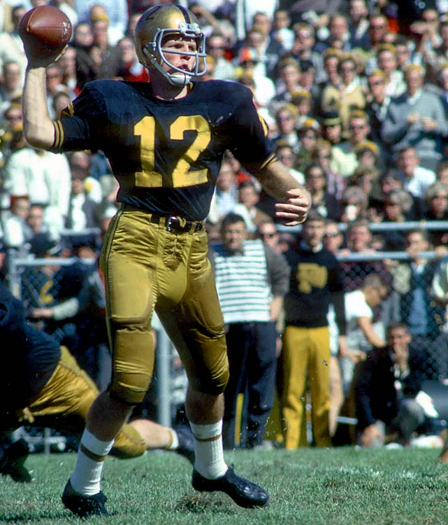 A two-time All-America at Purdue, Bob Griese led the Boilermakers to their first-ever Rose Bowl appearance in 1966.  His poise and accuracy however, were not enough to overcome the 1966 Heisman Trophy winner Steve Spurrier, who finished with 843 more points than Griese.