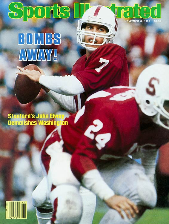 Blessed with a huge arm and fantastic pocket awareness, John Elway gave his all to some very mediocre Stanford Cardinal teams, but was never able to lead them to a bowl game. Perhaps that is why he fell to Herschel Walker -- who led his Georgia Bulldogs to an 11-1 record  --  in the 1982 Heisman voting.
