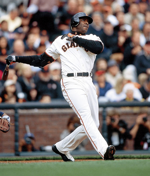 Bonds set the single-season home run record in 2001, and in 2002 he was intentionally walked a then-record 68 times. All those walks likely robbed Bonds of the Triple Crown as he won the batting crown by 32 points over Larry Walker, but fell 18 RBIs short of Lance Berkman's NL-best mark of 128 and just three home runs shy of Sammy Sosa's league-leading total of 49.