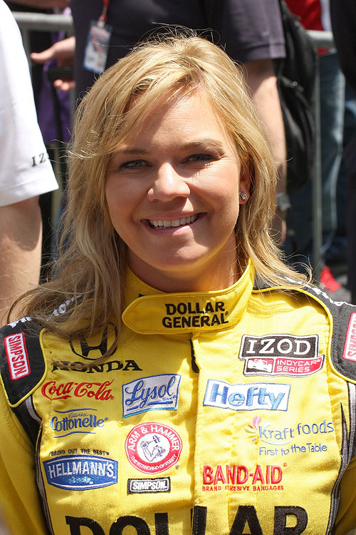 IndyCar driver and team owner Sarah Fisher became the youngest woman to compete in an IRL race at the age of 19.
