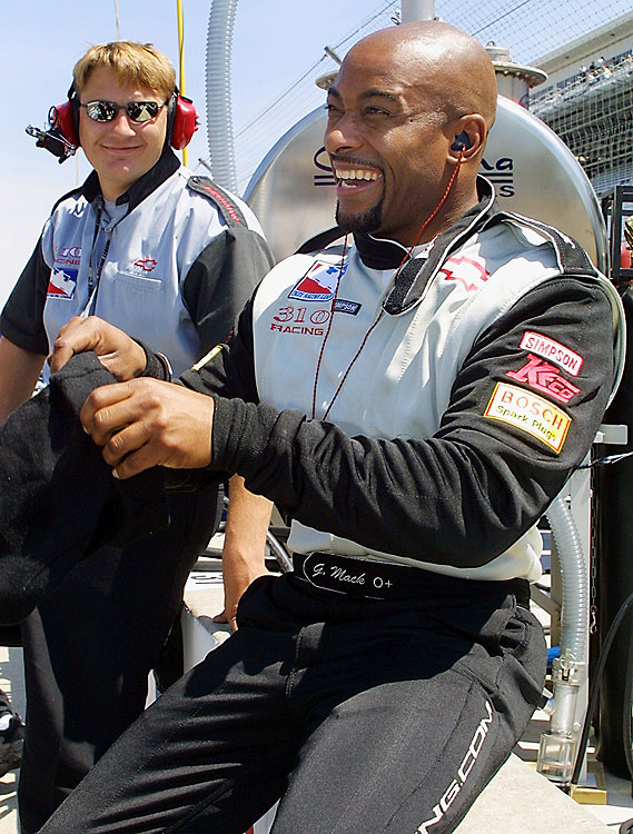George Mack became the second African-American to race in the Indy 500 when he competed in 2002.