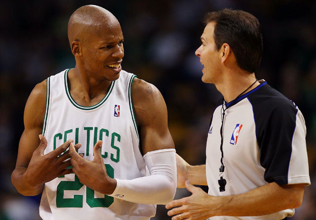 In the 2010 playoffs, Ray Allen compiled 70 percent of the Celtics complaints. This is a fact; the Wall Street Journal kept a running tally.