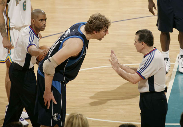 Dirk doesn't mess around when he's upset with a call. Which may explain his 10 technicals last season.