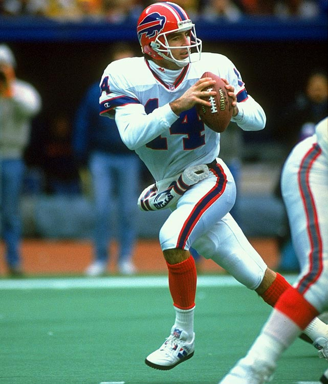 Over a 13-year NFL career, Reich started more than three games in a season just once. He ultimately played for the Bills, Jets, Panthers and Lions. He totaled just 20 starts. But Reich became one of the more recognizable names in the league, thanks to an epic performance in a playoff start against the Oilers, bringing his team back from a 32-point deficit to win 41-38 in 1993.