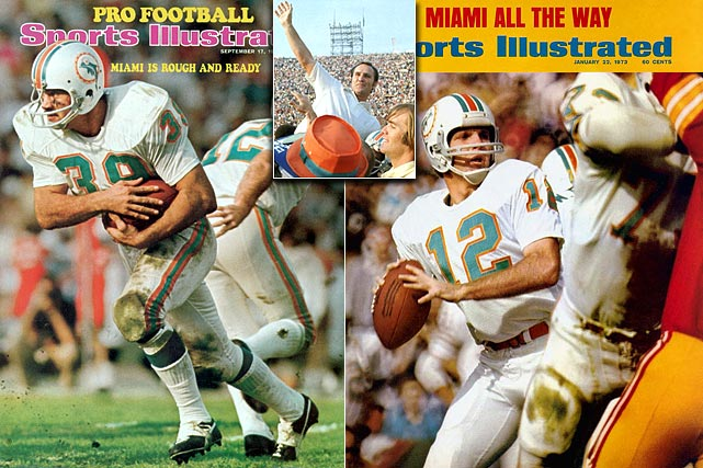 Perfection.  No other team, apart from the 1972 Miami Dolphins, can lay claim to it.  Led by the legendary Don Shula, and Hall of Famers such as Bob Griese, Larry Csonka, Larry Little and Paul Warfield, the Dolphins marched through the NFL in '72 with a spotless 17-0 record and a Super Bowl title.   It's rumored that the perfect Dolphins get together to sip champagne every time another team's run at NFL perfection ends.