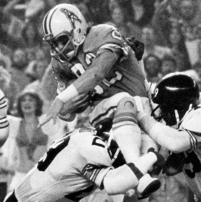 The NFL's annals are lined with missed calls, but no non-call was more erroneous than the one in the 1979 AFC Championship Game.  Down 17-10 in the third quarter to the Pittsburgh Steelers, the Houston Oilers mounted a comeback that would have shifted the momentum squarely in their favor.  Oilers quarterback Dan Pastorini hit Mike Renfro in the back of the end zone for what appeared to be the game-tying score. Renfro was ruled out, even though TV replays clearly showed he was inbounds. The Oilers protested in vain and lost the game, but the case for instant replay was all but cemented.