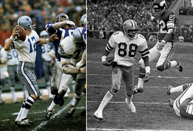 "In the closing seconds of a 1975 NFC divisional playoff game, the Cowboys and Roger Staubach found themselves down 14-10, at midfield with 24 seconds left.  Previously, the last-ditch desperation heave had been known as an ""Alley-Oop.""  But when Staubach heaved the ball in wideout Drew Pearson's direction, he closed his eyes and said a Hail Mary. Pearson came down with the ball, and the rest is history."