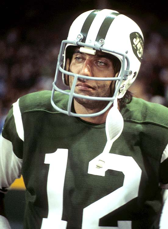 Joe Namath looks on in disgust as his New York Jets fall to the Cleveland Browns 31-21 on Sept. 21. Namath had reason to pout, lofting three interceptions in the game, the last of which was returned for a touchdown. After rolling to a 10-4 mark the year before, the Jets staggered to a measly 4-10 record in 1970.