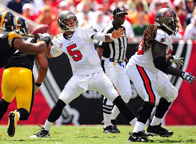Despite leading the Bucs to a 2-0 record, Josh Freeman never seemed to get comfortable in this one.  The former Kansas State quarterback mustered only 184 passing yards and an interception.