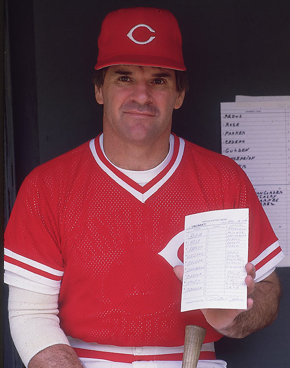 After being traded to the Reds, Rose took on the role of player-manager and led the team to a 19-22 record the remainder of the season.