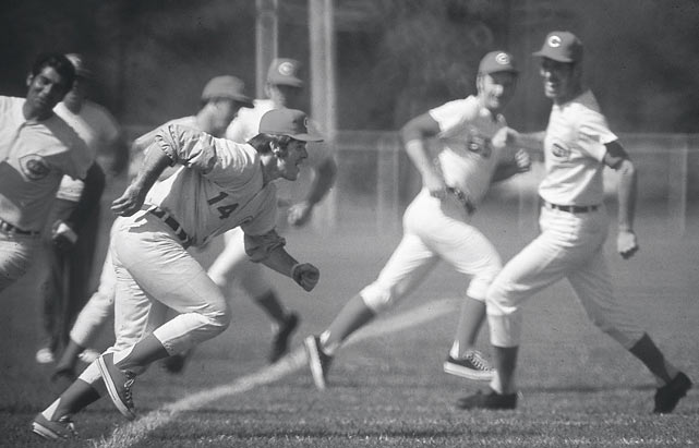 Rose shows off his trademark hustle during a spring training drill. By the start of the 1972 season, Rose was entering his 10th year with the Reds. He had also established himself as one of the game's best hitters, maintaining an average above .300 for seven straight years.