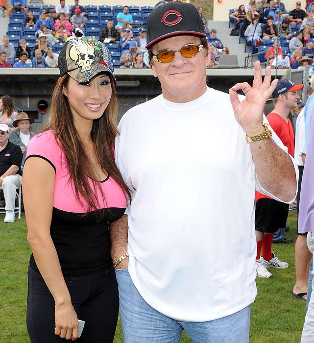 Rose with his girlfriend, Playboy model Kiana Kim.