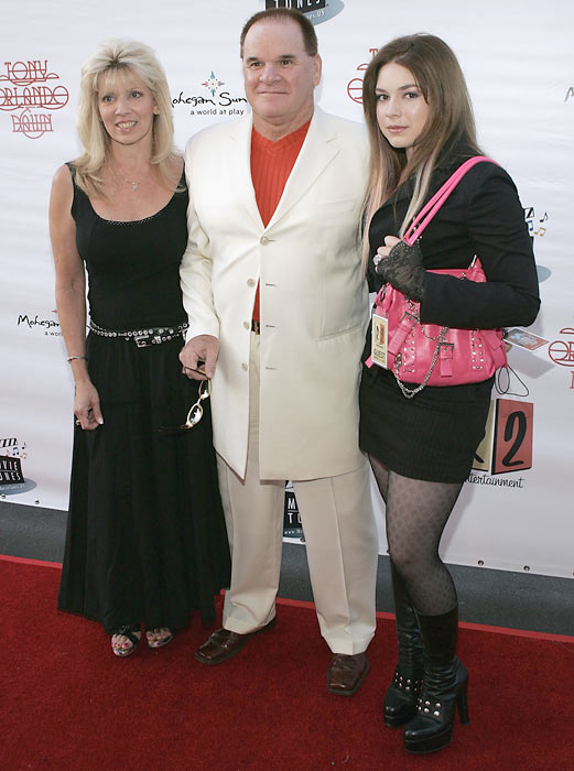Rose poses with Carol Woliung and daughter Chea at a concert in in Los Angeles.