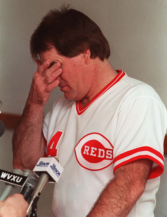 Despite his success on the field, Rose is best known for his banishment from baseball for gambling. The ruling came after the 225-page Dowd Report, which showed that Rose bet on Reds game while serving as the team's manager. Rose steadfastly denied these charges until 2004, when he published his autobiography, <italics>My Prison Without Bars,</italics> and confirmed the charges.