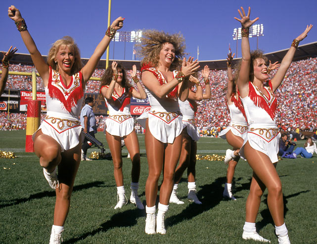 The 49ers Cheerleaders perform during a game between Pittsburgh and San Francisco at Candlestick Park.