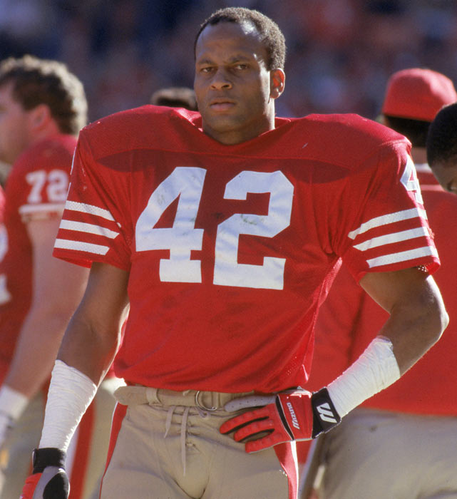 The 1990 season marked the final one for 49ers safety Ronnie Lott in San Francisco. The safety is one of five players to play for the 49ers during all four of their Super Bowls in the 1980s (joining Joe Montana, Keena Turner, Eric Wright and Mike Wilson.)