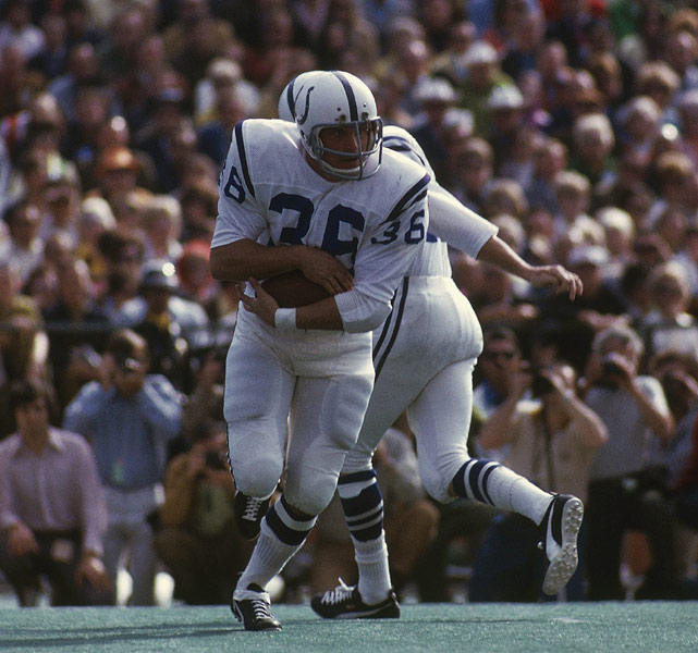 Before Edgerrin James broke his record in 2000, Norm Bulaich held the Colts' franchise record for most rushing yards in a single game -- his 198-yard spectacular in Week 1 of the 1971 season. His huge effort the first week of the season helped propel him to the Pro Bowl that year, the only appearance of his career.
